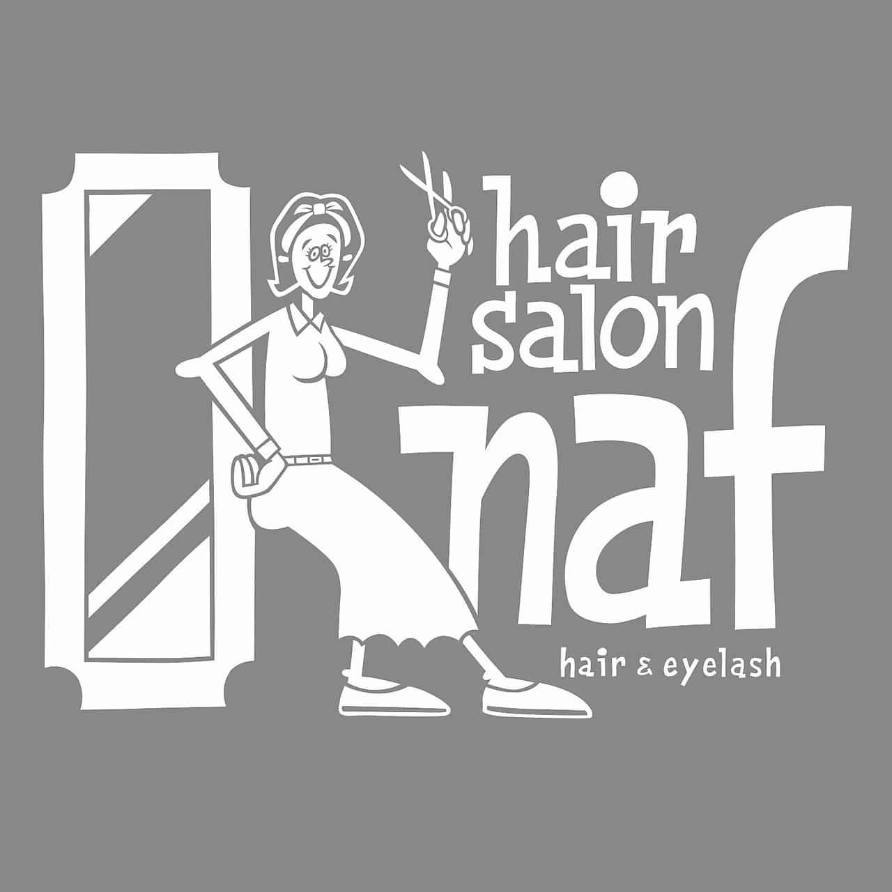 美容室naf hair&eyelash 都賀店ロゴ画像