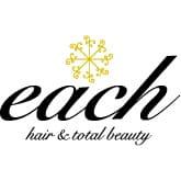 美容室each hair&total beautyロゴ画像